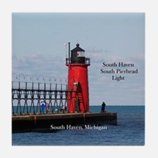 South Haven Pierhead Light Tile Coaster