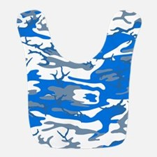 Ice Water Blue Camo Polyester Baby Bib