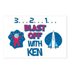 Blast Off with Ken Postcards (Package of 8)