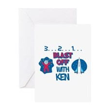 Blast Off with Ken Greeting Card