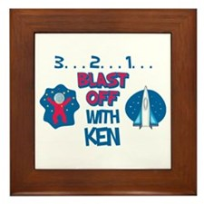 Blast Off with Ken Framed Tile