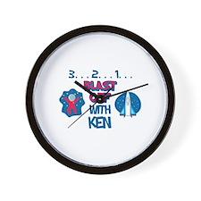 Blast Off with Ken Wall Clock