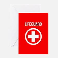 Lifeguard: Lifeguard (White) Greeting Cards