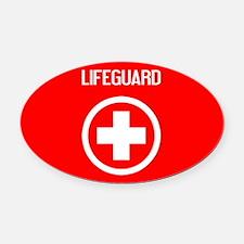 Lifeguard: Lifeguard (White) Oval Car Magnet