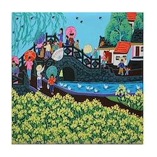 Chinese Folk Art Tile Coaster