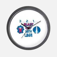 Blast Off with Liam Wall Clock