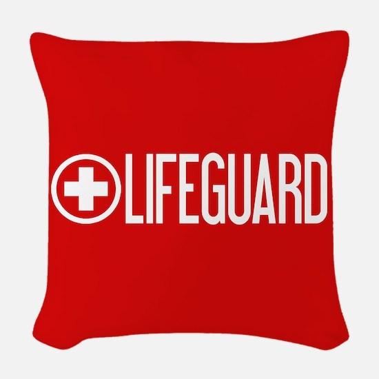 Lifeguard: Lifeguard (White) Woven Throw Pillow