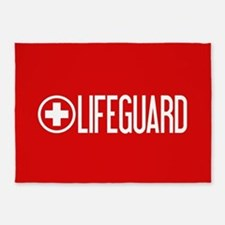 Lifeguard: Lifeguard (White) 5'x7'Area Rug
