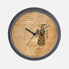Medieval Collage Visigothic Eagle Wall Clock