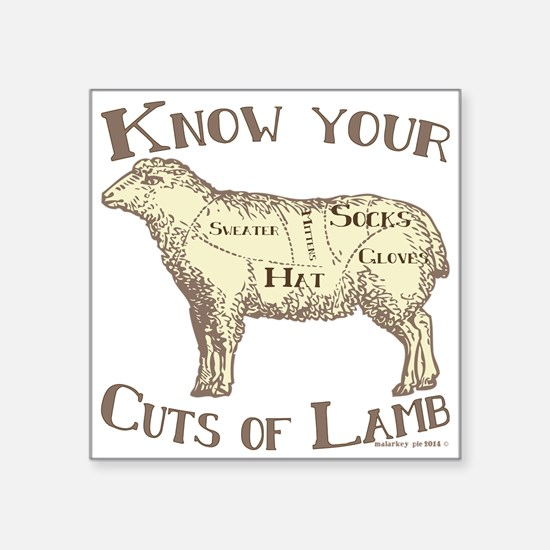 Funny Craft Know your cuts of lamb Sticker