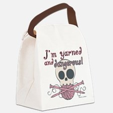 Crafty Yarned and Dangerous Canvas Lunch Bag