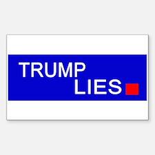 Trump lies bumper sticker Decal