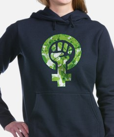 Feminist Symbol Green Leaves Sweatshirt