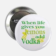 "Funny Lemon Vodka 2.25"" Button"