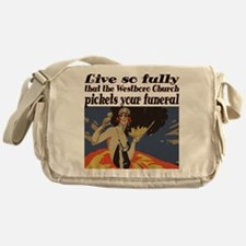 Live so fully Messenger Bag