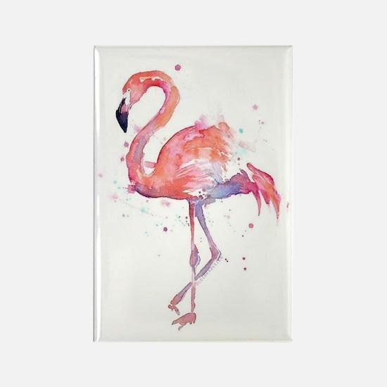 Cute Flamingos Rectangle Magnet