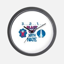 Blast Off with Nate Wall Clock