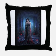 Lady of the Dark Throw Pillow