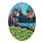 Chinese Folkart Oval Ornament