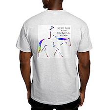 Western Pleasure Logo Ash Grey T-Shirt