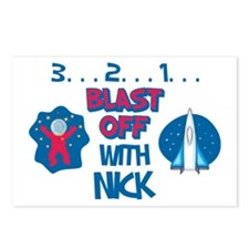Blast Off with Nick Postcards (Package of 8)
