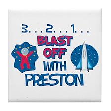 Blast Off with Preston Tile Coaster
