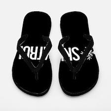 Ski Patrol: Snowflake (White) Flip Flops