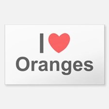 Oranges Sticker (Rectangle)