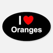 Oranges Sticker (Oval)