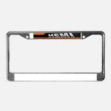 ORANGE HEMI  License Plate Frame