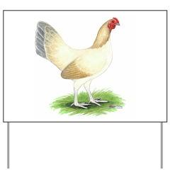Blue Wheaten Hen Yard Sign