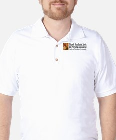 StJude-sticker2 Golf Shirt