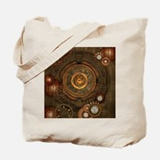 Steampunk, noble design with clocks and gears Tote