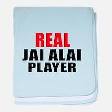 Real Jai Alai baby blanket