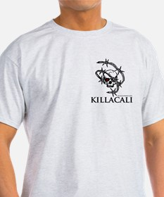 KillaCali Barbed Wire Skull T-Shirt