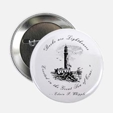 Books are Lighthouses<br> Button