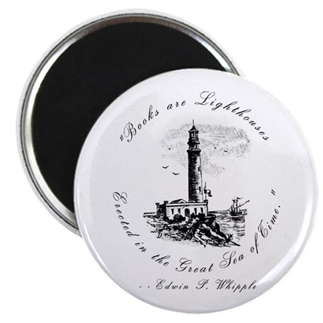 "Books are Lighthouses<br> 2.25"" Magnet (100 pack)"