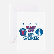 Blast Off with Spencer Greeting Card