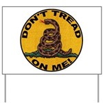 Don't Tread on Me-Circle Yard Sign