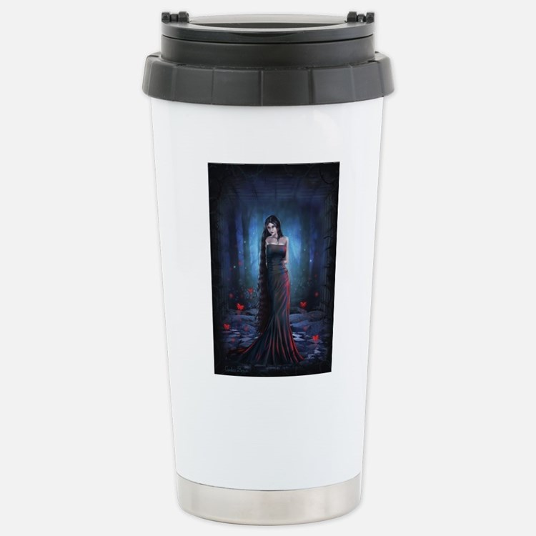 Lady of the Dark Stainless Steel Travel Mug