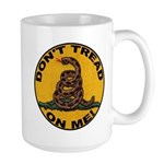 Don't Tread on Me-Circle Large Mug