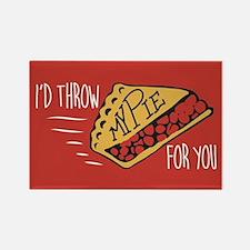 Throw Pie Rectangle Magnet