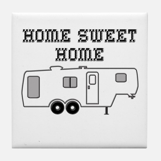 Home Sweet Home Fifth Wheel Tile Coaster
