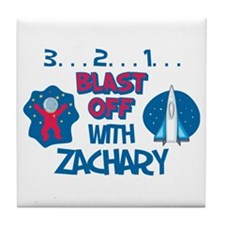 Blast Off with Zachary Tile Coaster