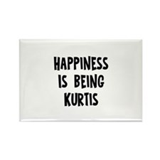 Happiness is being Kurtis Rectangle Magnet