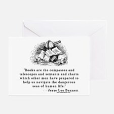 Books are the compasses<br> Greeting Cards (Packag