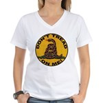 Don't Tread on Me-Circle Women's V-Neck T-Shirt