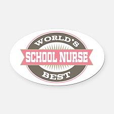 school nurse Oval Car Magnet