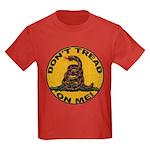 Don't Tread on Me-Circle Kids Dark T-Shirt