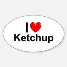 Ketchup Sticker (Oval)